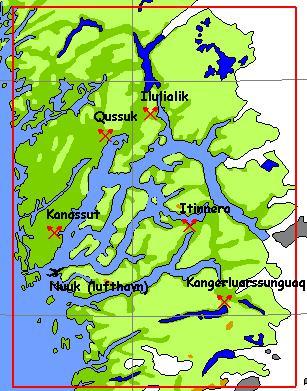 Nordvestlige hjørne 52 13 23 65 18 50 sydøstlige hjørne 49 25 22 63